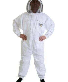 BEE SUIT white fencing veil