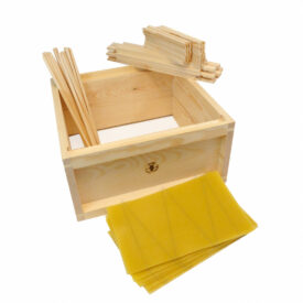 british national assembled wooden brood box with frames foundation