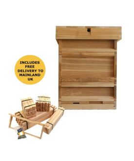 bs national western cedar hive with 2 supers frames foundation flat pack