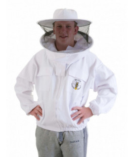 buzz work wear white round jacket