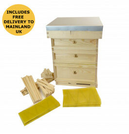 bs national assembled wooden 14-x-12 hive with frames foundation