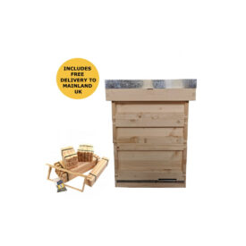 budget bs national pine hive with 2 supers frame foundation