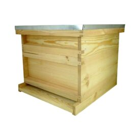 assembled hive with super
